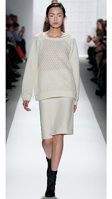 Tibi Tess Jacquard Pencil Skirt