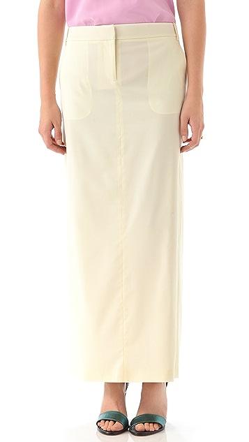 Tibi Tuxedo Maxi Skirt