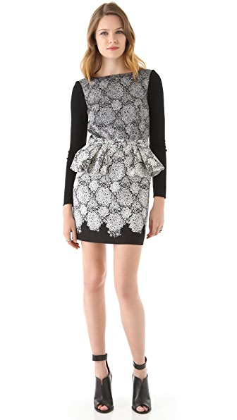Tibi Natalia Peplum Dress