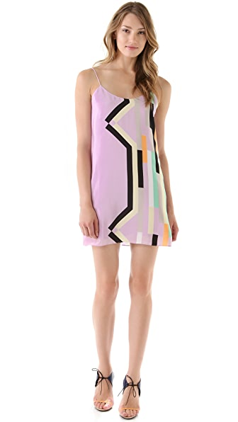Tibi Arizona Print Slip Dress