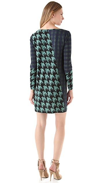 Tibi Houndstooth Shift Dress