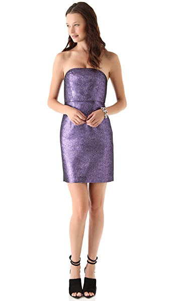 Tibi Lurex Strapless Dress
