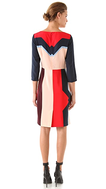 Tibi Lola 3/4 Sleeve Dress