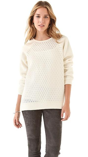 Tibi Tess Jacquard Sweater