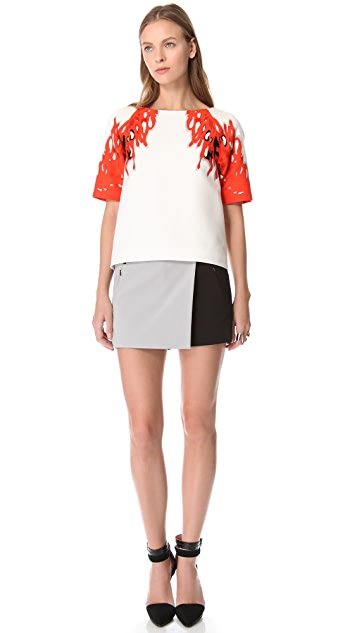 Tibi Maverick Colorblock Shorts