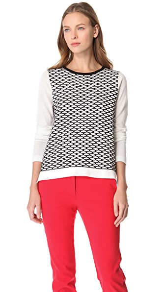 Tibi Sporty Mesh Sweater