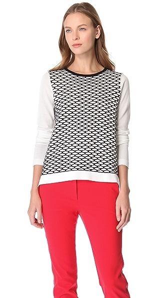 Tibi Sporty Mesh Sweater