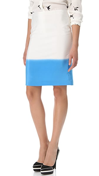 Tibi Fade Out Pencil Skirt