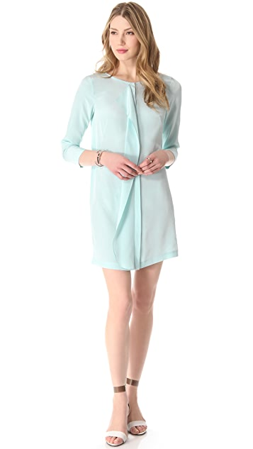 Tibi 3/4 Sleeve Drape Dress