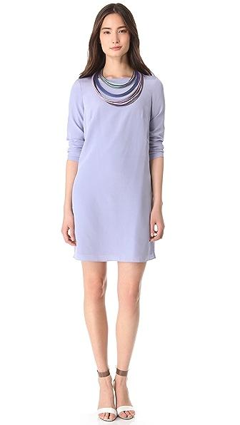 Tibi Sold Silk Shift Dress