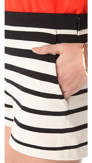 Tibi Variegated Stripe Knit Shorts