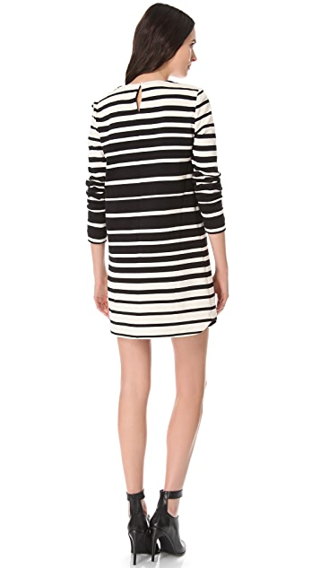 Tibi Variegated Stripe Shift Dress