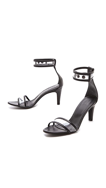 Tibi Dylan Clear Strap Sandals