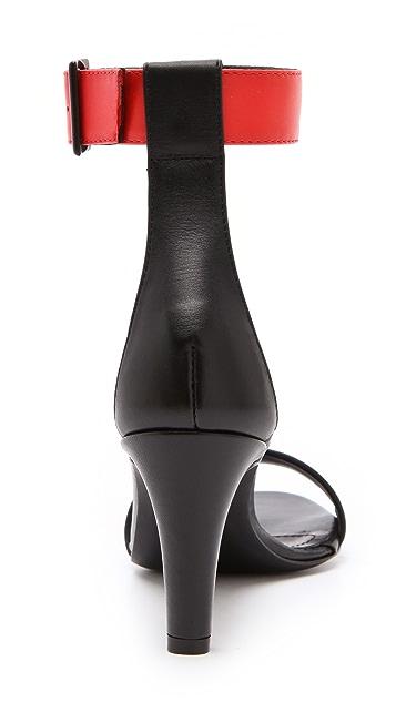 Tibi Ivy Contras Strap Sandals