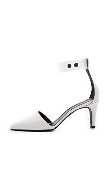 Tibi Shane Clear Strap Pumps