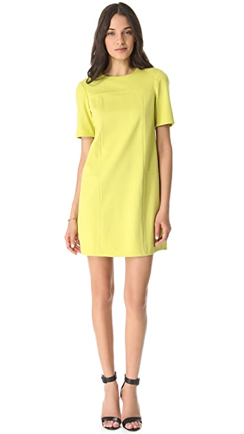 Tibi Short Sleeve Ponte Dress