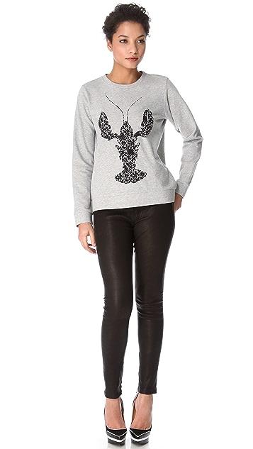 Tibi Lobster Lace Sweatshirt