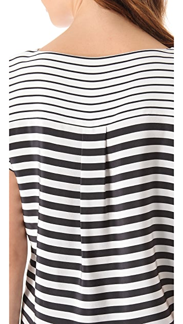 Tibi Claire Stripe Easy Top