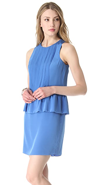 Tibi Sleeveless Silk & Chiffon Dress