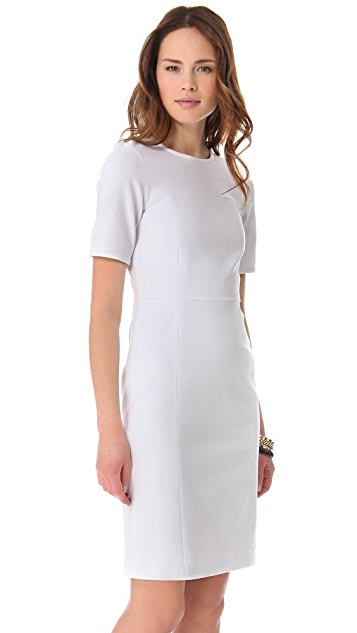 Tibi Paneled Short Sleeve Dress