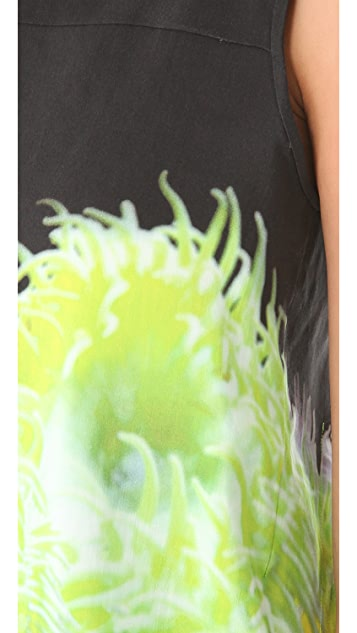 Tibi Sleeveless Silk Linen Top
