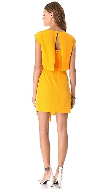 Tibi Drape Silk Dress
