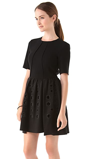 Tibi Inez Embroidered Dress