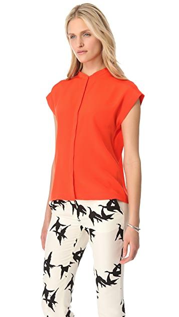 Tibi Cross Back Top