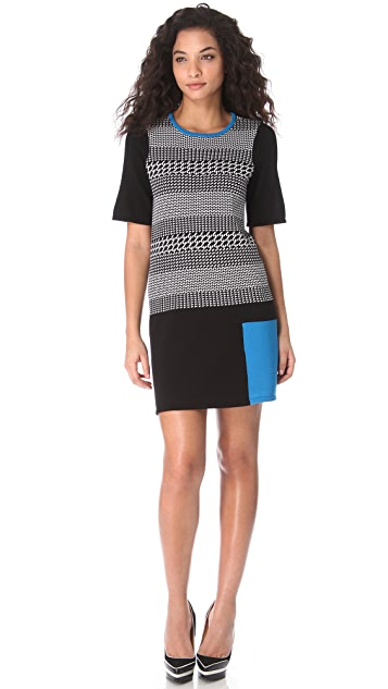 Tibi Intarsia Sweater Dress