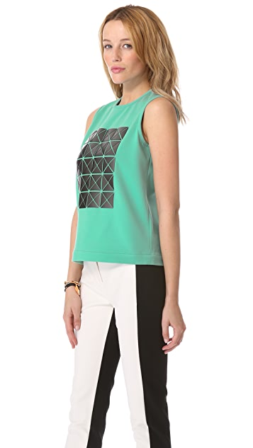 Tibi Applique Top