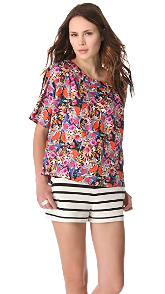 Tibi Potpourri Easy Seamed Top