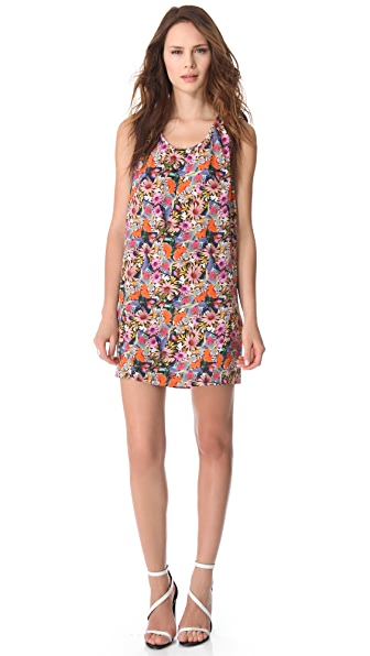 Tibi Potpourri Scoop Neck Dress