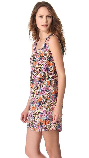 Tibi Potpourri Scoop Neck Dress