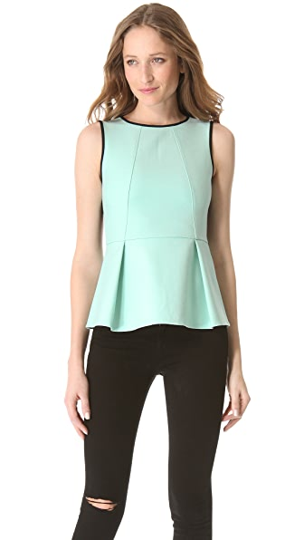 Tibi Anson Colorblock Peplum Top
