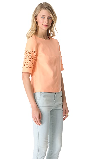 Tibi Pia Cutout Top