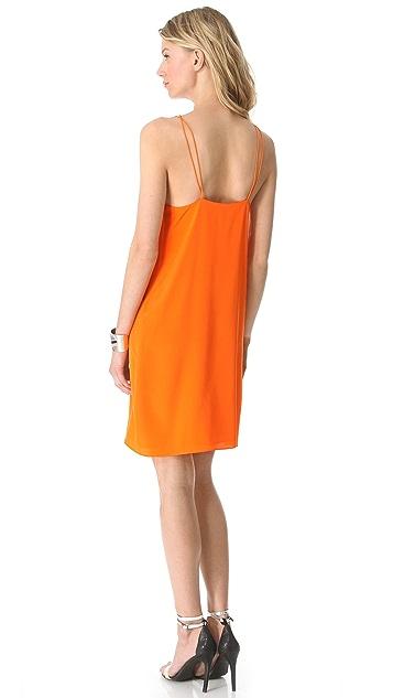 Tibi Heavy Silk Strappy Dress