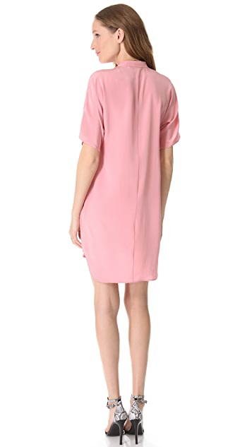 Tibi Heavy Silk Tunic Dress