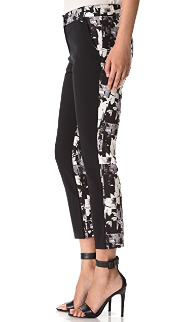 Tibi Arel Print Back Pants