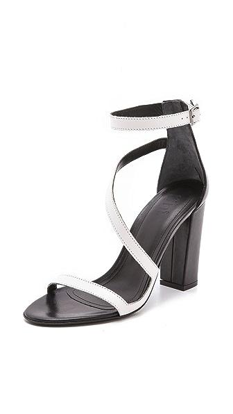 Tibi Ida Asymmetrical Sandals