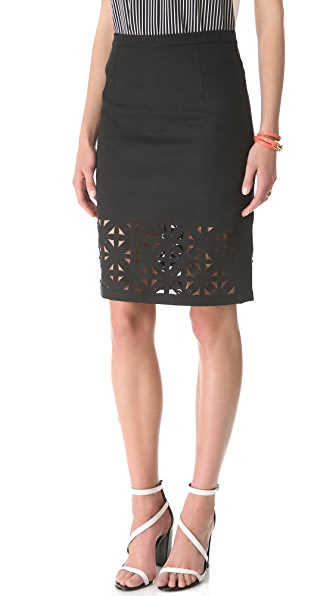 Tibi Pia Cutout Pencil Skirt