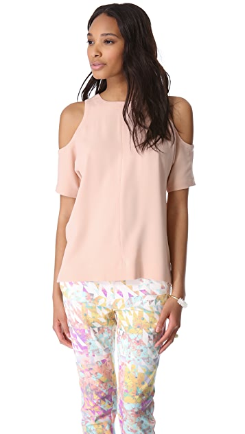 Tibi Cutout Shoulder Top