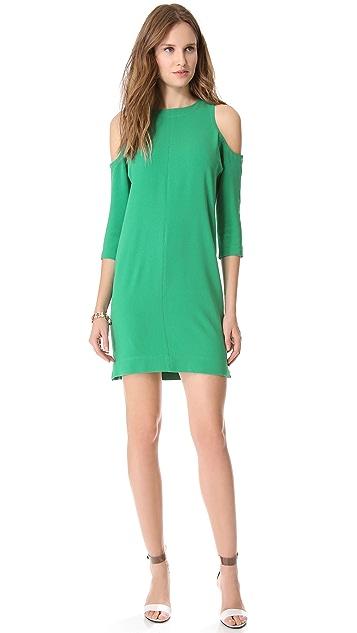 Tibi Cutout Shoulder Dress