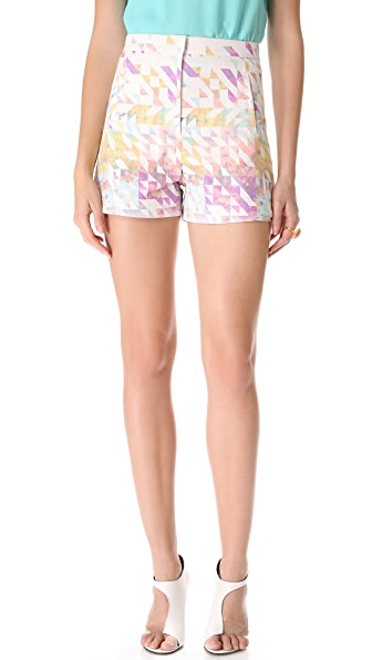 Tibi Velocity High Waisted Shorts