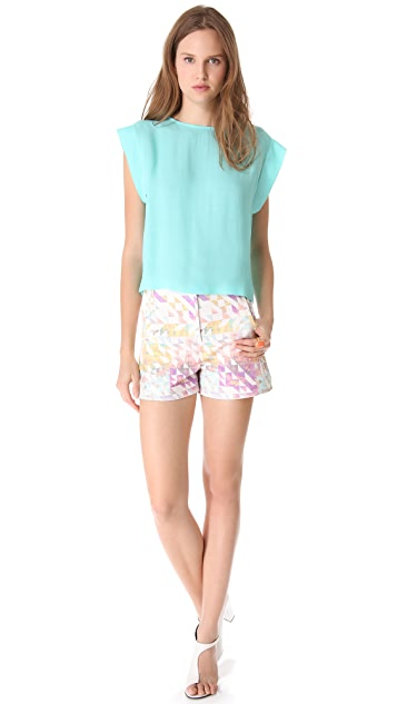 Tibi Velocity High Waisted Shorts