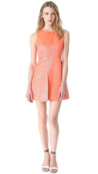 Tibi Lennox Jacquard Sleeveless Dress