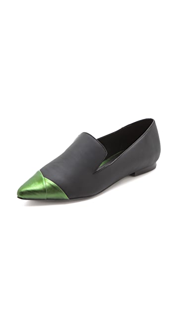 Tibi Anya Cap Toe Loafers