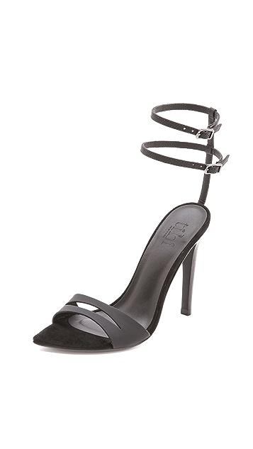 Tibi Mia Sandals with Ankle Straps