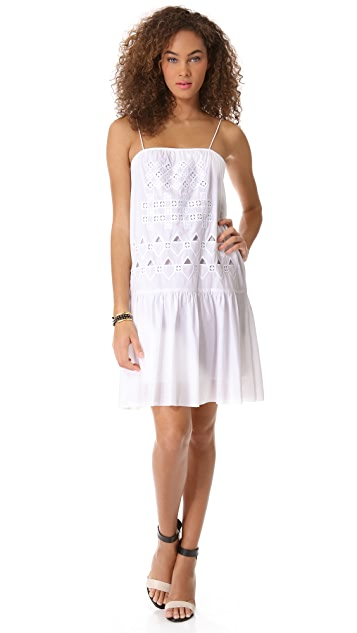 Tibi Eyelet Embroidered Dress