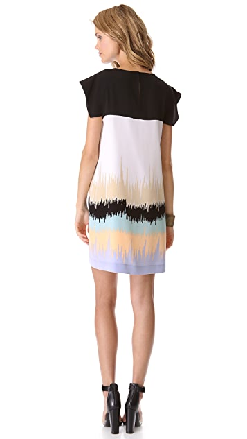 Tibi Analog Print Easy Dress