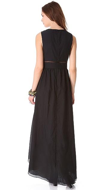 Tibi V Neck Long Dress